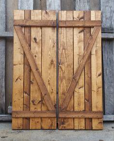Board & Batten Wood Shutters by GeckosHyde on Etsy