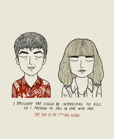 The End Of The F***ing World Tv Show Quotes, Film Quotes, James And Alyssa, Retro Graphic Design, Wes Anderson Movies, Mixed Feelings Quotes, Sad Movies, Film Aesthetic, Movie Couples