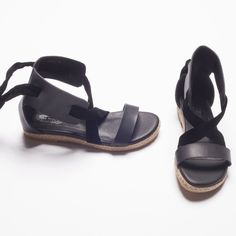 ULTRA LUXE SANDAL by Pink Martini – Flat with suede strips. 100% Vegan - Summer shoes – Sandals - Forevermlle.com online store