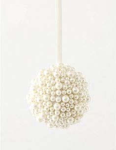 pearl ornament - my Grandmother used to buy styrofoam ornament balls ...