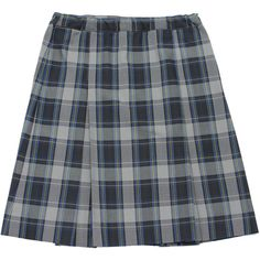 SCHOOL UNIFORM GIRLS PLAID KICK PLEAT SKIRT ($32) ❤ liked on Polyvore featuring skirts and bottoms