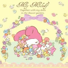 My Melody❤ I just LOVE pictures of her with flowers ~♡
