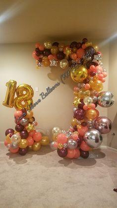 Balloon Columns, Balloon Arch, Balloon Garland, Diy Birthday Decorations, Balloon Decorations, Balloon Ideas, Sweet Sixteen Centerpieces, Balloons And More, Balloon Arrangements