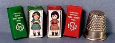 Dollhouse Miniature  Girl Scout and Brownie Scout Doll Box Set   girl toy 1:12
