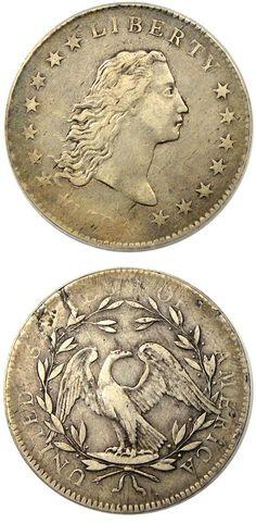 1794 one dollar coin, USA. Us Coins, Rare Coins, Canadian Coins, Usa Gold, Coin Display, Peace Dollar, American Coins, Gold And Silver Coins, Error Coins