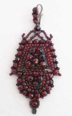 Victorian Bohemian Garnet Pendant