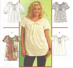 Plus Size Womens Boho Tops Tunic and Dress OOP by CloesCloset