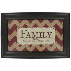 Red & Cream Family Framed Wall Art | Shop Hobby Lobby