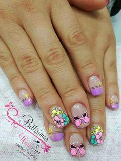 Wow Nails, Gold Glitter Nails, Feet Nails, Disney Nails, Flower Nail Art, Stylish Nails, Beautiful Nail Art, Beauty Nails, Hair And Nails