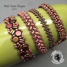 Beth Stone- Wrap Bracelet featuring our new Honeycomb Beads, Superduos and more