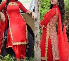 ♥ Stitching And Worldwide Shipping Available To Buy Please Reach Us @ M: 8284833733 Punjabi Salwar Suits, Salwar Kameez, Punjabi Models, Boutique Suits, Girl Trends, Sari Blouse Designs, Beautiful Suit, Designer Salwar Suits, Wedding Suits