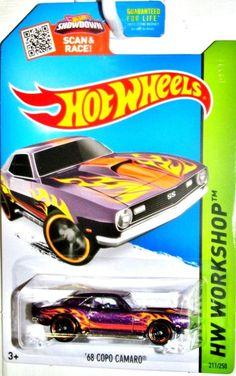 1968 Chevy COPO Camaro Hot Wheels 2015 HW Workshop-Heat Fleet #211/250 Violet #HotWheels #Chevrolet