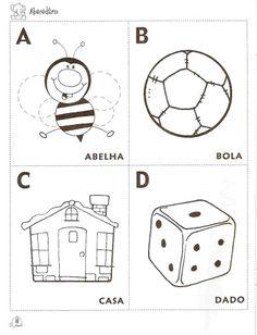 Alfabetos Lindos: Alfabeto para colorir, pintar, imprimir em fichas!