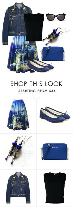 """""""Classy"""" by mariannemerceria ❤ liked on Polyvore featuring Chicwish, Repetto, MICHAEL Michael Kors, STELLA McCARTNEY, Rito, Kate Spade, classic, denimjacket and MarianneMerceria"""