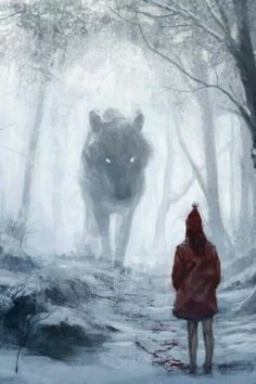 And the wolf befriended the child, but the child tricked him