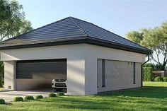 Projekt domu HomeKoncept-29 199,74 m2 - koszt budowy - EXTRADOM Modern Family House, Modern House Plans, Modern House Design, House Plans Mansion, Gable House, Custom Built Homes, Building Plans, Planer, Bungalow