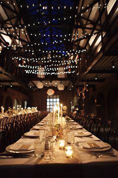 The ceiling of this venue looks very similar to our reception venue with the gorgeous exposed beams. Could this be possible ceiling decor for our wedding?
