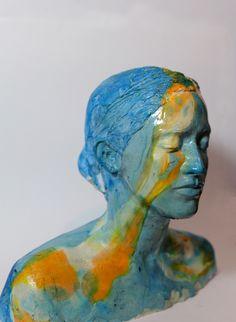 "Saatchi Online Artist: Joseph Dolinsky; Plaster 2012 Sculpture ""Portrait of Joanna Erdos #1"""