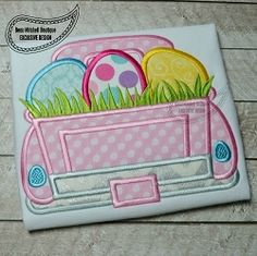 Easter Egg Grass Truck Applique - 4 Sizes! | Boys-Other | Machine Embroidery Designs | SWAKembroidery.com