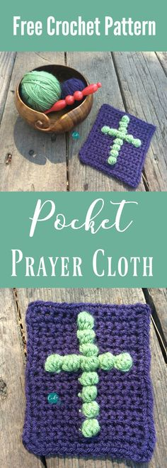 Free pattern for a pocket sized prayer cloth. crochet pattern | free crochet pattern | crochet for cancer | crochet gifts