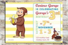 Birthday Invitation - Curious George   Celebration