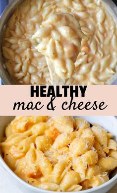 This healthier mac & cheese is SO creamy, you wont believe it is made without any processed cheese spread or Velveeta or Healthy Mac N Cheese Recipe, Mac Cheese Recipes, Healthy Recipe Videos, Good Healthy Recipes, Baby Food Recipes, Cooking Recipes, Oven Recipes, Vegetarian Cooking, Easy Cooking