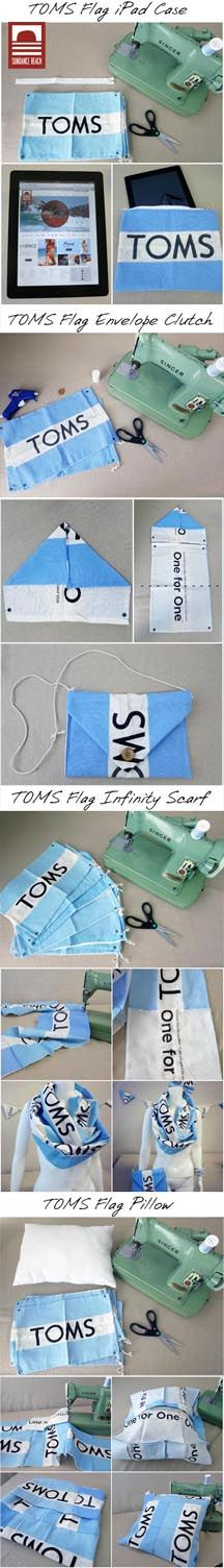 Things to do with a TOMS Flag //  4 Easy-to-Sew DIY's
