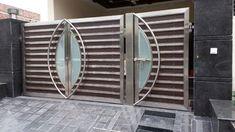 Image result for steel gate Steel Gate Design, Main Gate Design, Door Grill, Iron Gates, Entrance Doors, Fences, Locks, Garage, House