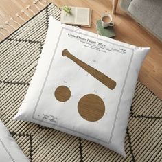 Vintage Baseball Pillows & Cushions   Redbubble Daybed Pillows, Cushions, Patent Office, Sunglasses Case, Baseball, Vintage, Design, Throw Pillows