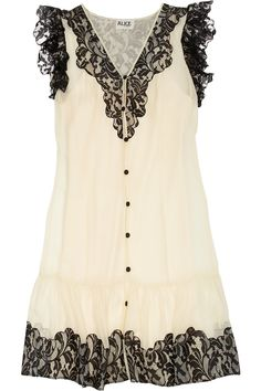 ALICE by Temperley|Vanita lace and silk-chiffon dress|NET-A-PORTER.COM