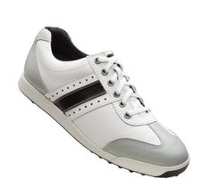 New Footjoy Golf Mens Contour Casual Spikeless Shoe 45462 White/Black Size 10.5 on Sale