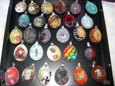 Resin Spoon pendants - so unusual and pretty!
