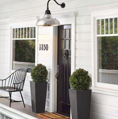 farmhouse front door entrance design ideas tips on selecting your front doors 26 Exterior Door Hardware, Exterior Doors, Wall Exterior, Modern Exterior, Front Door Entrance, Front Door Decor, Front Doors, Front Stoop, Door Entry