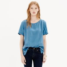 Silk Panel #Tee by Madewell - Found on HeartThis.com @HeartThis   See item http://www.heartthis.com/product/315849782045031469/