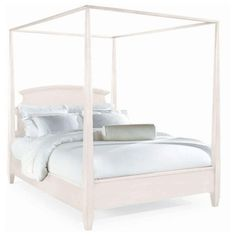 Sterling Pointe Poster Bed White - Queen #PLL