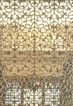 A Jali screen of relief carved pierced marble, central tomb chamber, Taj Mahal, Via The Majesty of Mughal Decoration, George Michell, Thames and Hudson,