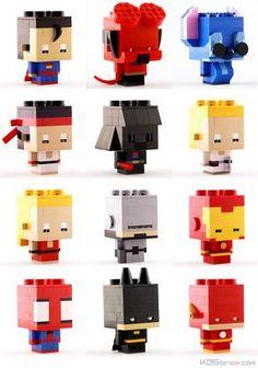 Les excellentes créations LEGO de Kosmas Santosa, aka KOS brick, un passionné… Robot Lego, Lego Duplo, Lego Toys, Kos, Design Lego, Deco Lego, Construction Lego, Van Lego, Lego Machines
