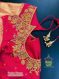 Magam Work Designs, Zardosi Work, Hand Work Embroidery, Fancy Blouse Designs, Blouse Models, Work Blouse, Boho Shorts, Blouses, Fashion