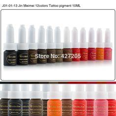 Golden Rose Permanente la Tinta Del Maquillaje de la Ceja de la Tinta Del Tatuaje Conjunto 10 ML 12 Colores de Labios Microblading Pigmento Profesional Encre A Levre