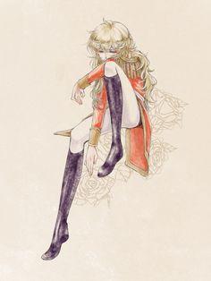 Rose of Versailles Manga Anime, Old Anime, Manga Art, Oscar Cartoon, Lady Oscar, Samurai Champloo, Character Design References, Anime Characters, Illustration Art