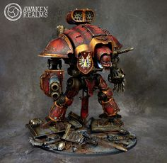 Imperial knight by awaken realms Warhammer Warhammer 40k Blood Angels, Warhammer 40k Figures, Warhammer Models, Warhammer 40k Miniatures, Warhammer 40000, Chaos Legion, Imperial Knight, Fantasy Battle, Game Workshop
