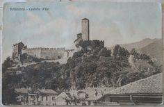 1913 Bellinzona - Castello d'Uri n° 2559 colortype Co. - Lugano  cartolina con francobollo Helvetia da 5 cent.