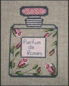0 point de croix parfum de roses - cross stitch roses perfume