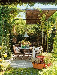 Ideas Backyard Hammock Pergola Outdoor For 2019 Diy Pergola, Small Pergola, Pergola Shade, Diy Patio, Backyard Patio, Backyard Landscaping, Pergola Ideas, Patio Ideas, Backyard Ideas