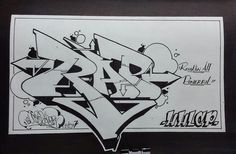 RAP by bugs-one on DeviantArt Graffiti Words, Graffiti Writing, Graffiti Designs, Graffiti Lettering, Street Art Graffiti, Jesus Cartoon, Rapper Art, 3d Drawings, Dibujo