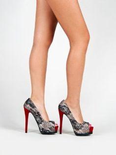 d74f46bd529a5 Amazon.com  Qupid TATUM-47 Platform High Heel Stiletto Sexy Lace Detail  Party Pump. Caution  Trip Hazard!