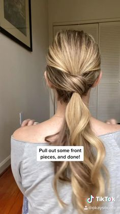 Easy Hairstyles For Long Hair, Up Hairstyles, Easy Ponytail Hairstyles, Hairstyle Hacks, Running Late Hairstyles, Athletic Hairstyles, Haircuts Straight Hair, Baby Girl Hairstyles, Workout Hairstyles