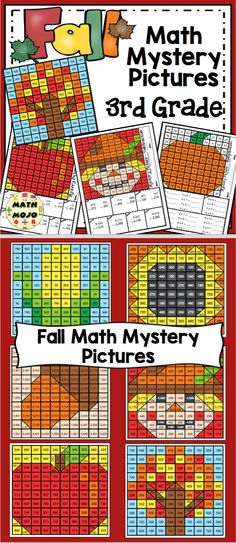 Grade Fall Math Mystery Pictures: Fall Color By Number Activities Math Word Walls, Vocabulary Word Walls, Teaching Activities, Number Activities, Teaching Ideas, 5th Grade Math, Fourth Grade, Grade 3, Third Grade