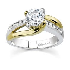 Two Tone Diamond Wedding Bands