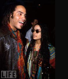 Lisa bonnet & Lenny kravitz - fashion way back when